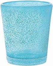 H&H Set Von 6 Gläser Glas Jade Schnaps Cl5 Blau Glas Weinglas Und Kelch