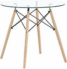 H.J WeDoo Rund Couchtisch Glastisch Tischplatte