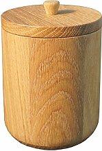 H L Russel & 11,4 x 11,4 x 16,6 cm Holz FSC-Eichenholz-Doppelkanister, Buche/Beige