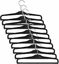 H & L Russel Hosen-Kleiderbügel, schwarz, 42cm, 10Stück