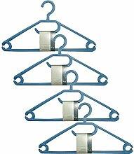 H & L Russel Kleiderbügel mit drehbaren Haken, durchscheinend blau, 12Stück