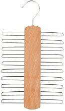 H & L Russel Ltd Krawattenbügel für 20 Krawatten, matte Buche