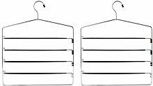 H & L Russel Ltd Set von Zwei 4bar Hosenbügel