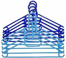 H & L Russel Shades Kleiderbügel, Kunststoff, Blau, 16Stück