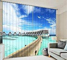 H&M Gardinen Vorhang Hawaiian Ocean View Schatten