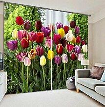 H&M Gardinen Vorhang Mehrfarbentulpen eine warme