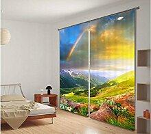 H&M Gardinen Vorhang Regenbogen Schatten Tuch UV