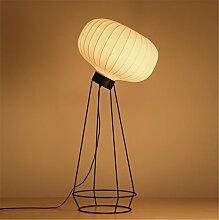 H&M Standleuchte Stehlampe Seidenstoff Lampenschirm torchiere Stehlampe Eisen Bodenleuchten für Wohnzimmer