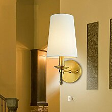 H&M Wandlampe Amerikanische rustikale Kupfer Lampe Wohnzimmer Schlafzimmer Bett Modern Wall Wandleuchte