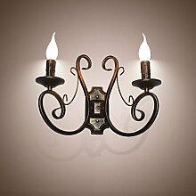 H&M Wandlampe New Retro Attic American Style Retro-Wand-Lampen-Schlafzimmer-Lampe Wandleuchte Kerzenlampe
