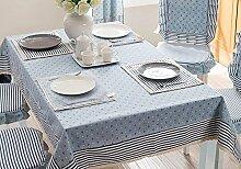 H&S Das Westliche Mittelmeer Einfacher dicke Mode Blau Tischdecke (Größe: 140 * 140 cm)