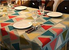 H&S Der Modus der Baumwolle Baumwolle, farbige Tischdecke (Color #3, Größe: 140 * 220 cm)