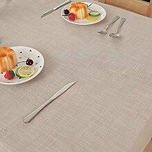 H&S Einfache, moderne reine Farbe Imitation Bettwäsche Tischdecke Tischdecke Tischdecke-H 140 x 140 cm (55 x 55 Zoll)