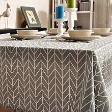 H&S Einfache Stoff Tischdecke Baumwolle karierte Tischdecke Tuch Couchtisch Tisch Stoff Stoff Tischdecke Tischdecke-C 70 x 70 cm (28 x 28 Zoll)