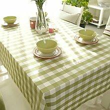 H&S Fabric Tischdecke Tuch Tischwäsche Tischdecke-B 220 x 140 cm (87 x 55 Zoll)