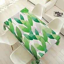H&S Frische Pflanze Wasser in Baumwolle und Leinen Stoff niedriger Tisch pastorale rechteckig, 1 140 * 200 cm.
