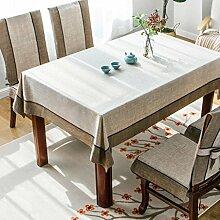H&S Geschirrtücher Einfache moderne Tischdecke Tischdecken Vintage Tischdecke Tischdecken Rechteckige Tischdecke Tee (Farbe: B, Größe: 140*240cm)