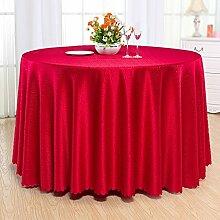 H&S Hotel Hotel chinesische Restaurant ribbon Pad fest Stoff Tischdecke eingewachsenen Runde (Größe: 220cm)