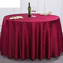 H&S Hotel Restaurant Tischdecke Tischdecke Tischdecke Square Round Table Tuch mit einem Durchmesser von 240 cm (94 Zoll)