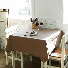 H&S Moderne, einfache reine Farbe wasserdichte Tischdecke Stoff Wohnzimmer Couchtisch Tischdecke Tischdecke-B 140 x 180 cm (55 x 71 Zoll)
