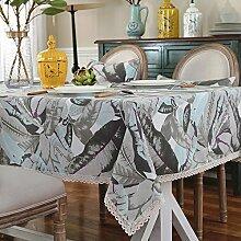 H&S Niedriger Tisch Nordic Lounge, rechteckige Tischdecke Tischdecke Haushalt Bettwäsche (Größe: 90 x 140 cm) XXPP