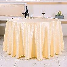 H&S Runde Tischdecke für Hotels der Stil der kontinentale Restaurant Tischwäsche Tee Tabelle Platz Tischdecke runde Tischdecke - G 140 x 160 cm (55 x 63 Zoll)