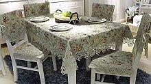 H&S Spitze im europäischen Stil pastorale bestickte Tischdecke (Größe: 100 * 150 cm)