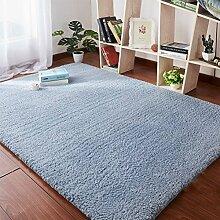 H&S Teppich Bett Bett Matten Wohnzimmer Couchtisch Fenster Mat (Farbe: Grau, Größe: 160 x 100 m)