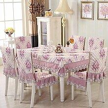 H&S Tischdecke einfache moderne Möbel für rechteckige Tischdecke Dining Chair Cover Europäischen Runden Tisch-C Durchmesser 180 cm (71 Zoll)