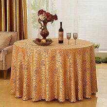 H&S Tischdecke rund Rosenkranz europäischen Hotel Hochzeit eingewachsenen (Größe: 240cm)