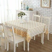 H&S Yi Mai Tischdecke Tischdecke Tischdecke Tischdecken Einweg Wasserdicht und Öldichte PVC-Tischdecke - 137 x 190 cm (54 x 75 Zoll)