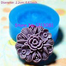 H028Backform Fimo Backform Silikon Blume (22mm)