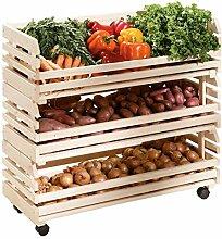 H24living Küchenwagen Früchtehorde Küche