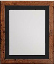 H7Bilderrahmen Holz Vintage mit Weiß, Schwarz,