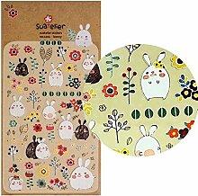 Häschen Sticker, 1cm bis 3cm, süße