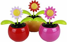 HAAC 2er Set Solar Wackelblume Blume Motiv
