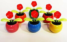 HAAC 4er Set Solar Wackelblume Blume Rose ro