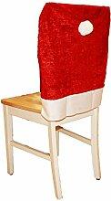 HAAC 6er Set Stuhlhusse aus Samt Mütze Motiv