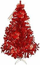 HAAC künstlicher Weihnachtsbaum Farbe Rot 150 cm
