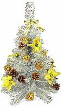 HAAC künstlicher Weihnachtsbaum Farbe Silber 60