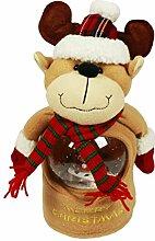 HAAC Singende Weihnachtsfigur Plüschrentier mit