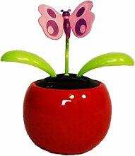HAAC Solar Wackelblume Blume Motiv Schmetterling