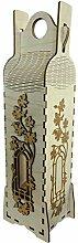 haag-laserart Weinbox aus Holz Natur | Besondere