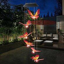 Haavpoois LED-Lichterkette, Solar, Schmetterling,