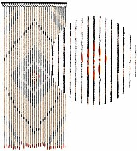 HAB & GUT -DV0151- Türvorhang Holz, BRAUN, 90 x