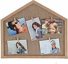 HAB & GUT -FR057- Bilderrahmen Haus aus Holz mit 5