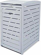 Habau 120-und 240 Liter Mülltonnenbox, grau