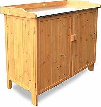 Habau 3106 Gartentisch mit Unterschrank, 98 x 48 x