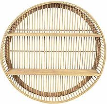 habeig Design Bambus Wandregal rund 60 cm