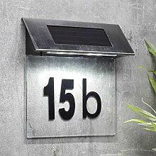 habeig Edelstahl Special Solar Hausnummernleuchte